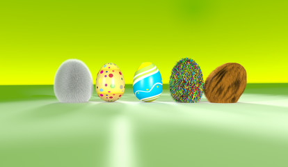 Funny Colorfull Eggs