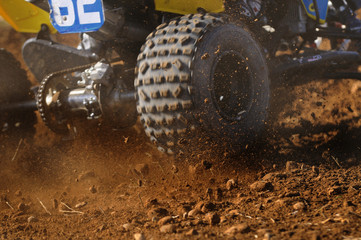 quad tyres in action