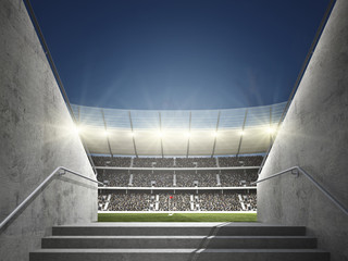 Fotobehang - Stadion mit Blick aus Durchgang