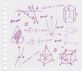 Mathematics - geometric shapes  sketches