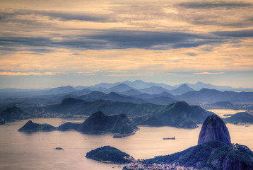 View on Sugarloaf Moutain in Rio de Janeiro