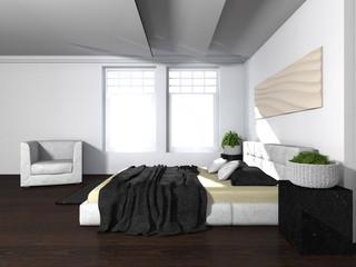 Modern eingerichtetes Schlafzimmer
