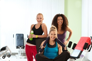 Portrait of happy fit girls