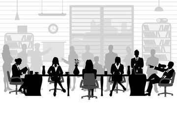 business people during a meeting