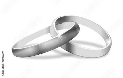 Eheringe clipart schwarz weiß  Grafik zwei Ringe schwarzweiss