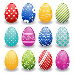 set of bright eggs