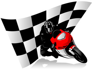 Wall Mural - Motorcycle racer
