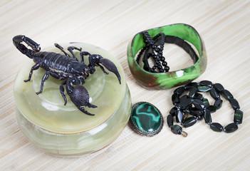 Women's adornment with scorpion