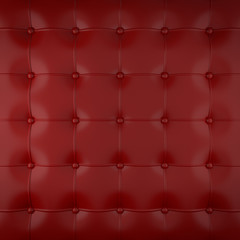 Foto auf Leinwand Leder red padded leather
