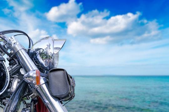 bike and sea