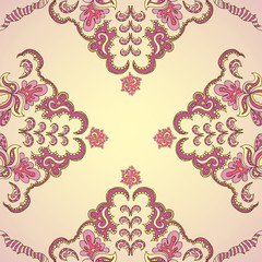 Ornamental round vintage pattern
