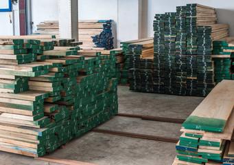 Prepared wood in stock