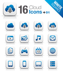 White Squares - Cloud computing Icons