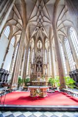 The interior of the church in Brno, Czech Republic.