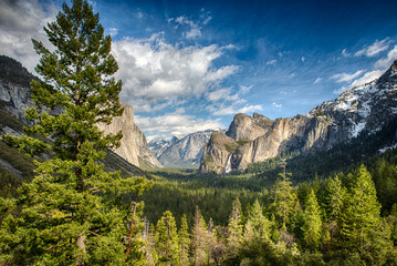 Tunnel View in Yosemite National Park Wall mural