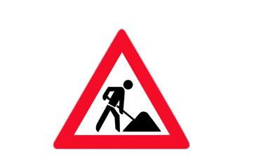 Verkehrszeichen: Baustelle