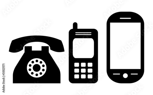 u0026quot phone icons  vector illustration u0026quot  fichier vectoriel libre de droits sur la banque d u0026 39 images