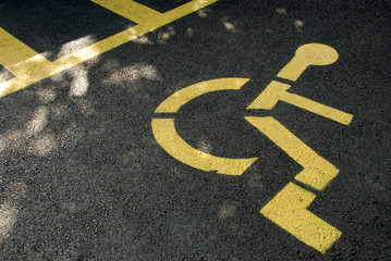 Parking reserved for disabled