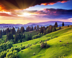 Wall Mural - mountains landscape