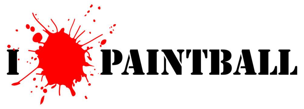 I love paintball (vector illustration)