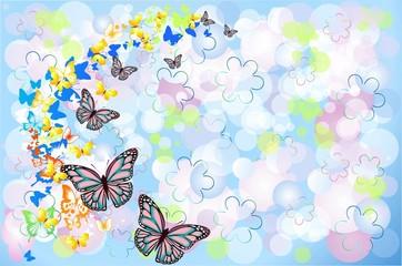 tło z motylami