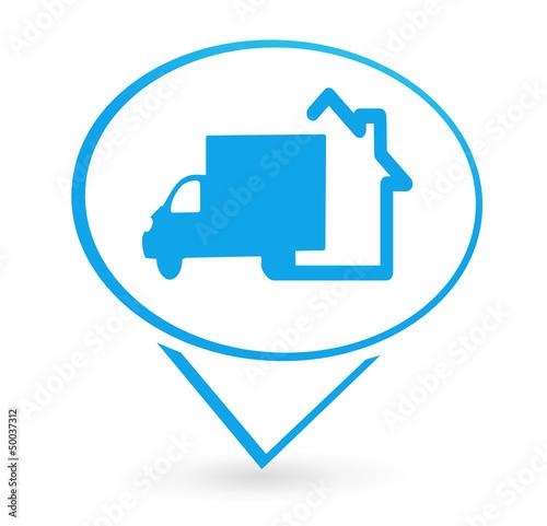 livraison domicile sur signet bleu fichier vectoriel libre de droits sur la banque d 39 images. Black Bedroom Furniture Sets. Home Design Ideas