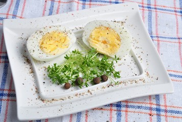 eggs and vegetables on table