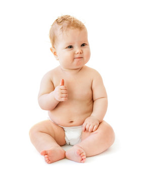 baby with like gesture