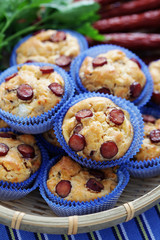 muffins with sausages