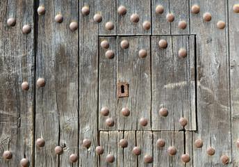 Old wooden door, background