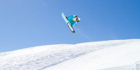 Fototapete - evoluzione con snowboard