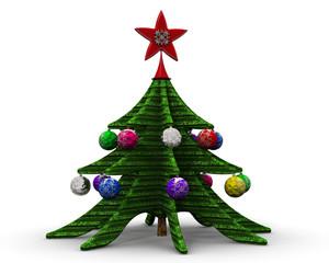 Новогодняя елка с украшениями