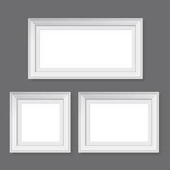 set of white frames