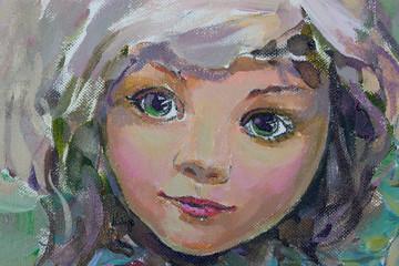 Little fairy, painting