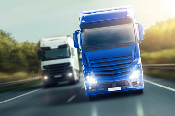 Fototapete - Blue Truck