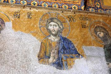 Hagia Sophia, Istanbul, Turkey. Jesus and John the Baptist