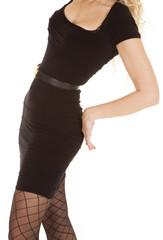 woman black dress body
