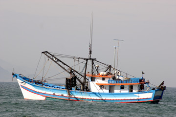Industrial fishing boat