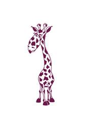 Funny giraffe for kids