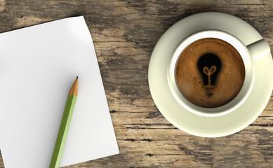 Café con espuma  bombilla