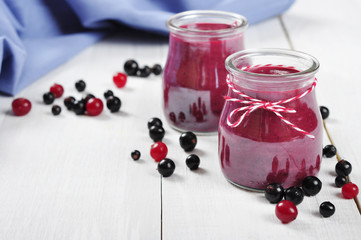 Cranberry and black currant smoothie