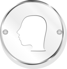 Glossy Metallic Style Person icon