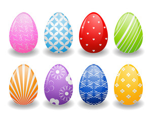 ester eggs with patterns