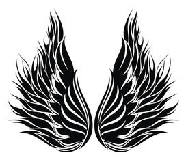 Wings.Tattoo design