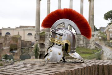 Roman soldier helmet, Fori Imperiali, Rome, Italy