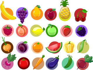 Мультфильм овощей и фруктов