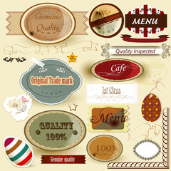 Collection of retro labels for design