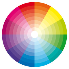 Color wheel illustration.