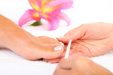 La pose en embrasure Pedicure Pedicure