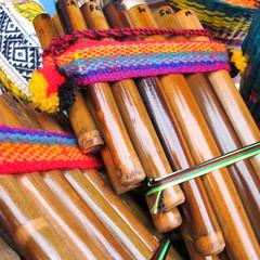 Andean flutes, Market of Santiago de Chile